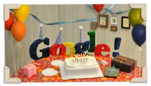 Happy 13th Birthday Google