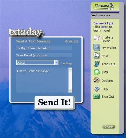 txt2day demoxi widget
