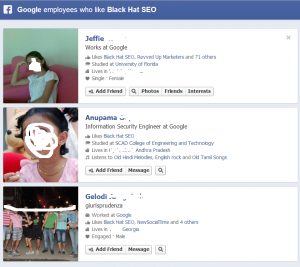 employees of Google who like black hat seo